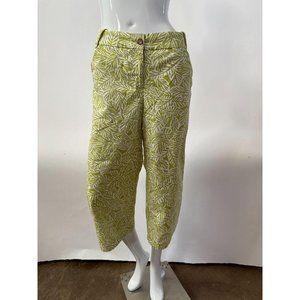 Leaf Print Capri Pants by Lands End
